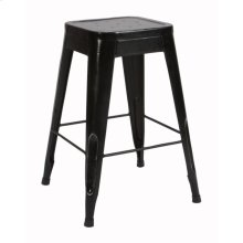 "24"" Metal Stool, Black"
