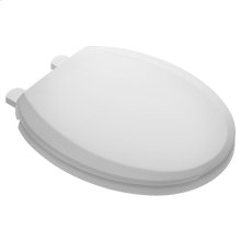 Slow Close Easy Lift and Clean Round Front Toilet Seat - White