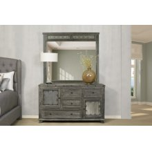 Bolt Mirror - Light Graywash