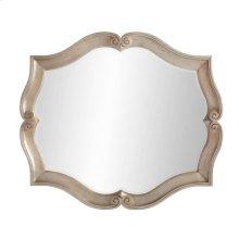 Juniper Dell Scalloped Mirror in Tarnished Silver Leaf