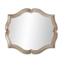 Juniper Dell Scalloped Mirror in Tarnished Silver Leaf