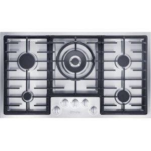 MieleGas cooktop in maximum width for the best possible cooking and user convenience.