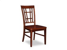 Montego Bay Dining Chairs Set of 2 with Wood Seat in Walnut