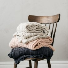 Classic Knit Throw - Dark Grey