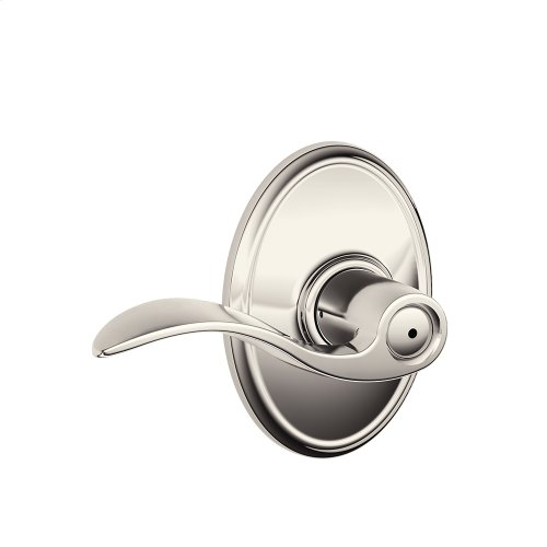 Accent Lever with Wakefield trim Bed & Bath Lock - Polished Nickel