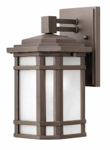 Oil Rubbed Bronze with White Cherry Creek Exterior Wall Mount