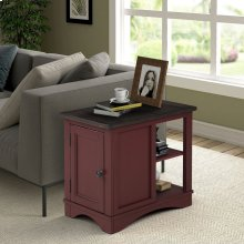 Americana Modern Cranberry Chairside Table