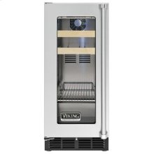 "15"" Beverage Center, Clear Glass, Left Hinge/Right Handle"