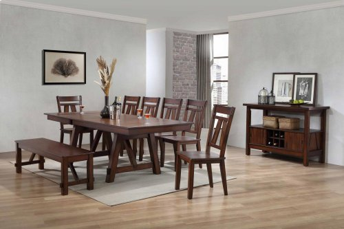 Winslow Cherry Finish Casual Dining Server