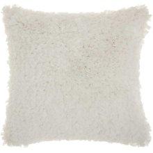 "Shag Dl660 White 1'5"" X 1'5"" Throw Pillow"