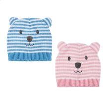 6 pc. ppk. Baby Bear Knit Hats