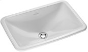 Drop-in washbasin (rectangular) Angular - White Alpin