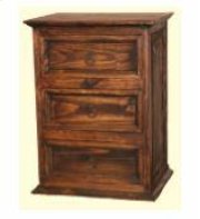 3 Drawer Nightstand Medio Finish Product Image