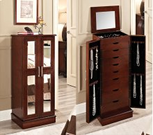 279-523  Cherry and Mirror 2 Door Jewelry Armoire
