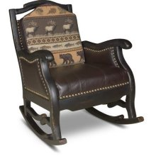 Chaparel Rocking Chair With Blackened Oak Finish