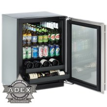 """Stainless Right hand 3000 Series / 24"""" Beverage Center / Digitally Controlled Single-Zone Convection Cooling System"""