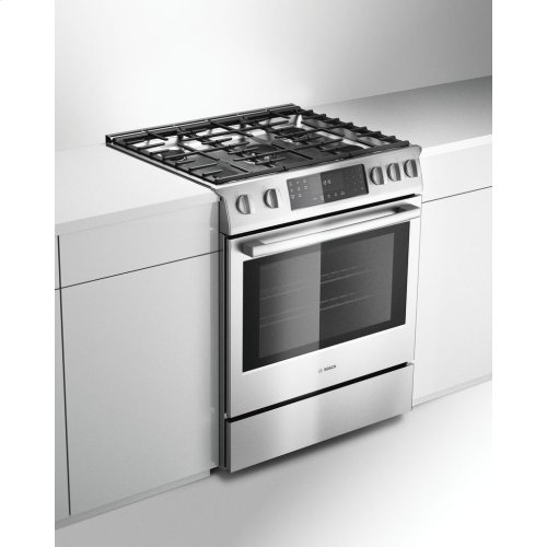 Benchmark® Gas slide-in range 30'' Stainless steel HGIP054UC