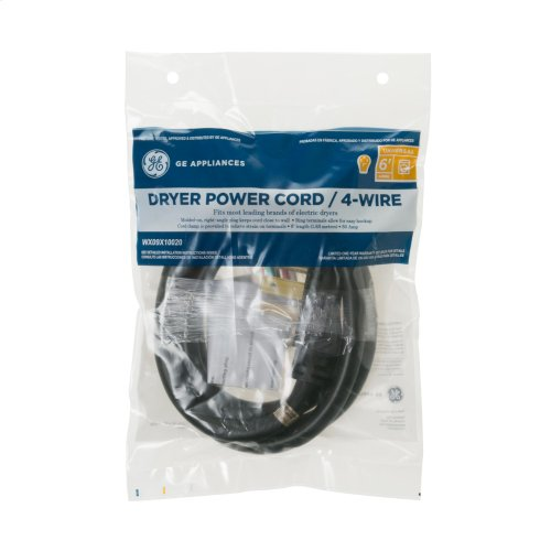 6' 30amp 4 Wire Dryer Cord