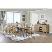 DLU-BR134-PW12PC  12 Piece Rectangular Extendable Dining Set  Sideboard