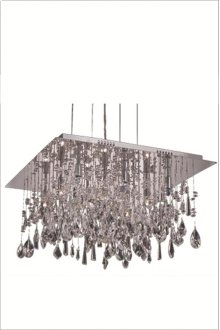 5904 Mirage Collection Hanging Fixture Chrome Finish (Royal Cut Crystals)