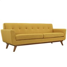 Engage Upholstered Fabric Sofa in Citrus