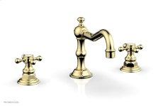 HENRI Widespread Faucet - Cross Handles 161-01 - Polished Brass