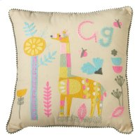 Embroidered Giraffe Pillow. Product Image