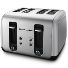 KitchenAid® 4 Slice, Manual High-Lift Lever Toaster with extra-wide 1.5 inch slots, adjustable shading control, and a TOAST/CANCEL button.