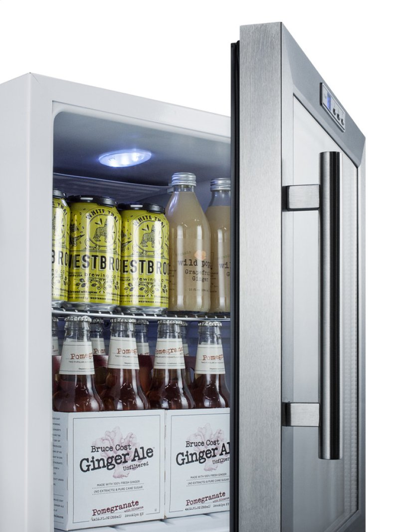 Additional Commercially Approved Glass Door Refrigerator With Digital Thermostat And White Cabinet Finish