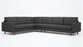 Oskar 2-Piece Sectional Sofa - Fabric