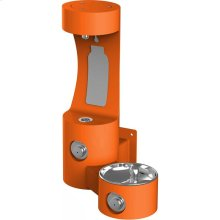 Elkay Outdoor EZH2O Bottle Filling Station Wall Mount, Non-Filtered Non-Refrigerated, Orange