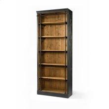 Without Ladder Size Matte Black Finish Ivy Bookcase