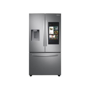 Samsung26.5 cu. ft. Large Capacity 3-Door French Door Refrigerator with Family Hub™ and External Water & Ice Dispenser in Stainless Steel