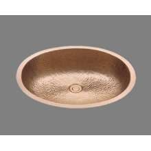 B1417 - Lavatory - Hammertone Pattern - Antique Brass