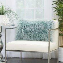 "Faux Fur Bj101 Celadon 14"" X 24"" Lumbar Pillows"