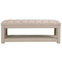 Larissa Double Bench in Beige