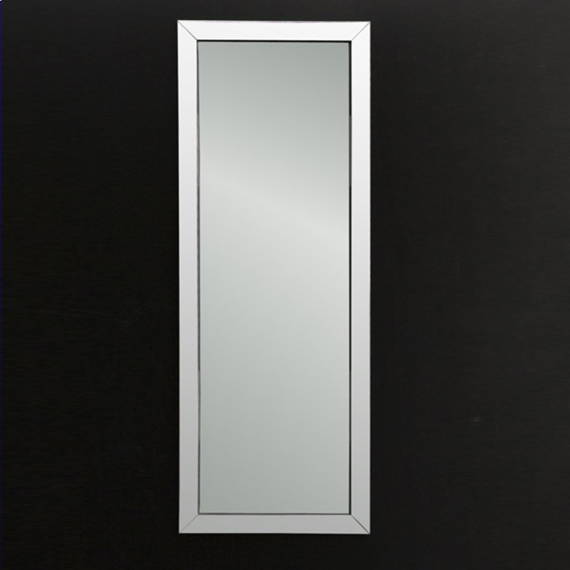 Wall Mount Mirror In Stainless Steel Frame