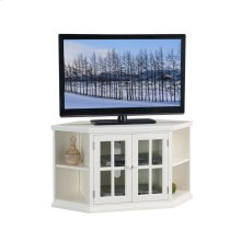 "White 46"" Corner TV Stand with Bookcases #85287"