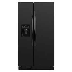 Amana® 35.5-inch Wide Amana® Side-by-Side Refrigerator with Gallon Door Storage Bins -- 24 cu. ft. Capacity - Black