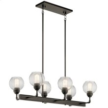 Niles Collection Niles 6 Light Linear Chandelier OZ