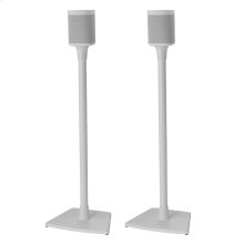 White- Pair of secure floor stands for Sonos surrounds.