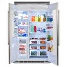 """Marvel Professional Built-In 48"""" Side-by-Side Refrigerator Freezer - Marvel Professional Built-In 48"""" Side-by-Side Refrigerator Freezer - Stainless Steel Doors, Slim Designer Handles Product Image"""
