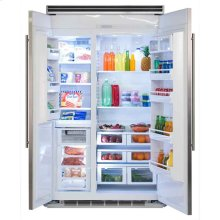 "Marvel Professional Built-In 48"" Side-by-Side Refrigerator Freezer - Marvel Professional Built-In 48"" Side-by-Side Refrigerator Freezer - Stainless Steel Doors, Slim Designer Handles"