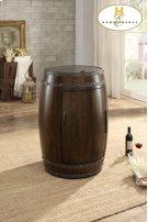 Wine Barrel Refrigerator, Dark Cherry Product Image