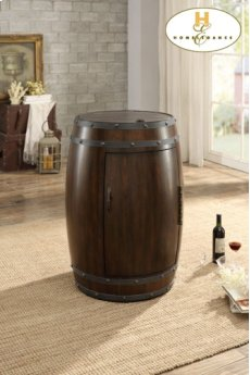 Wine Barrel Refrigerator, Dark Cherry Product Image