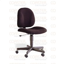 CHAIR/OFFICE SECRETARY W /GAS LIFT MTL/FABRIC BLK