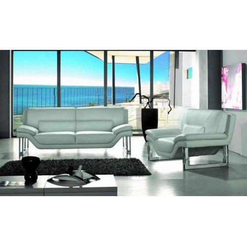 Divani Casa New York Modern White Leather Sofa Set