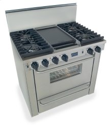 """36"""" All Gas, Convect, Sealed Burners, Stainless Steel"""