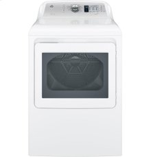 GE® 6.1 cu. ft. capacity aluminized alloy drum electric dryer with HE Sensor Dry
