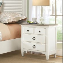 Myra - Three Drawer Nightstand - Natural/paperwhite Finish